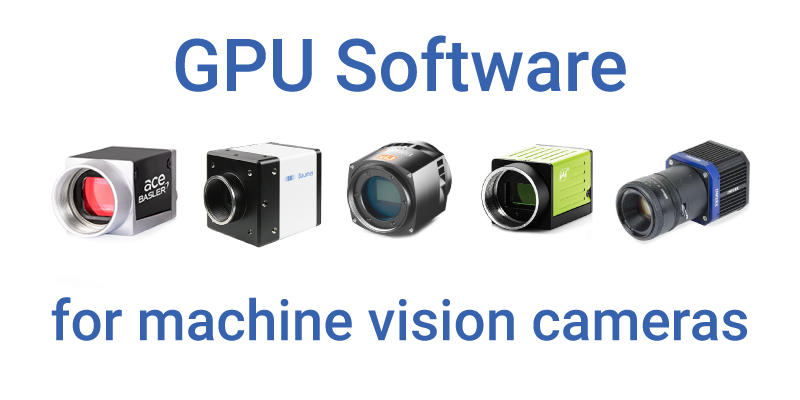 gpu software machine vision genicam